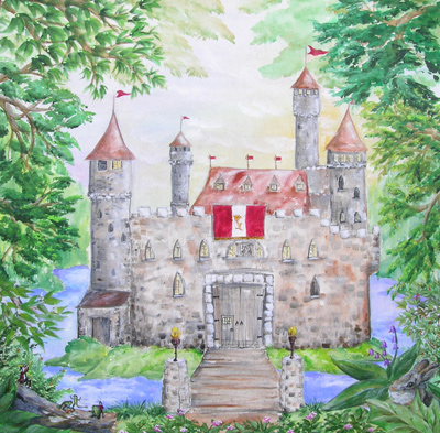 Castles Prints   Rose: Ca Pm Castle Rose