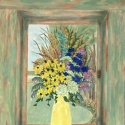 Yellow Vase in Window
